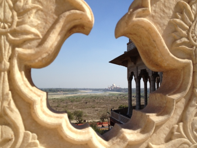our first glimpse of the Taj from the roof!